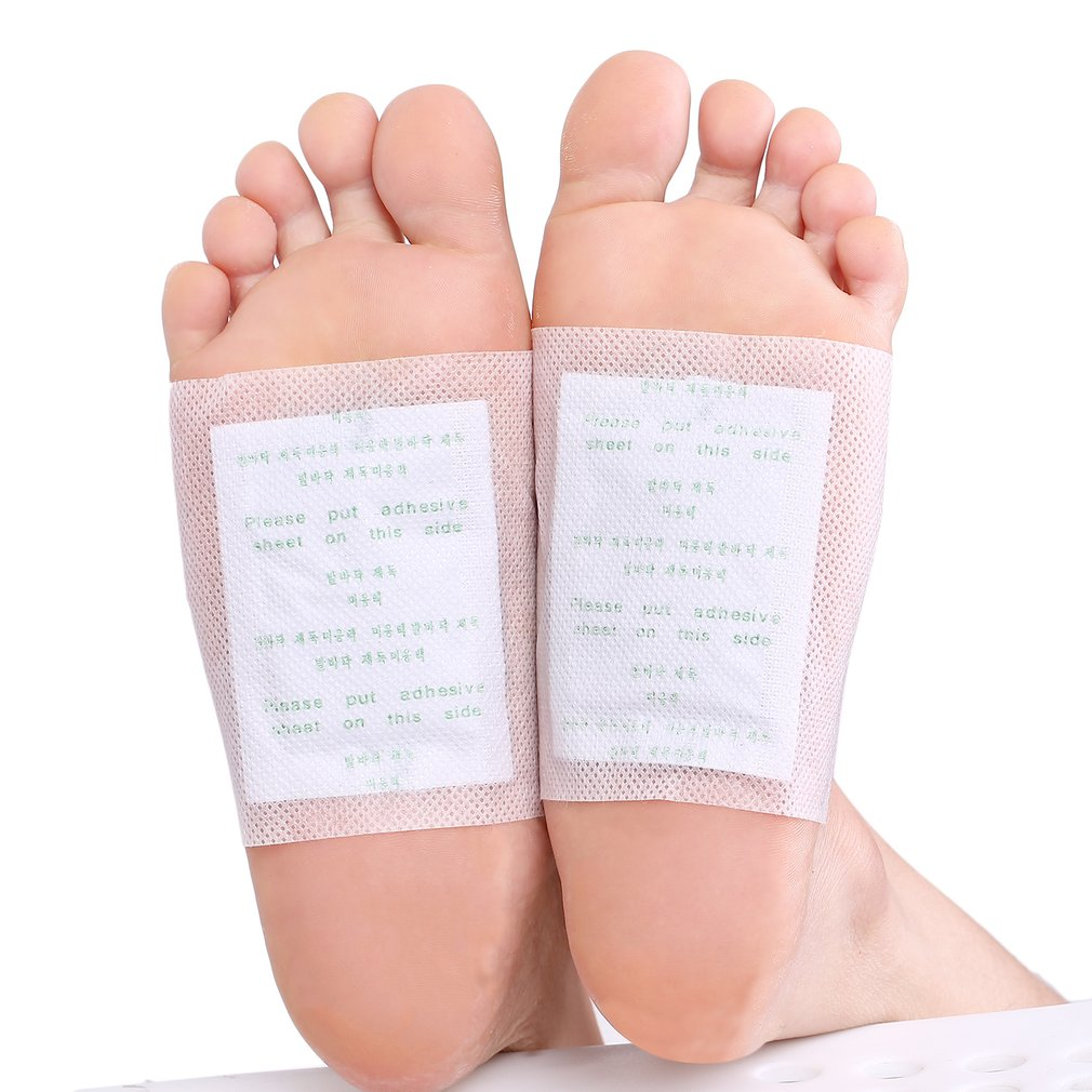 100 PCS Detox Foot Patches Pads Body Toxins Detox clean Combats Fatigue feet care Patches Feet Cleansing Herbal Adhesive new 10 pcs pineapple embroidered patches