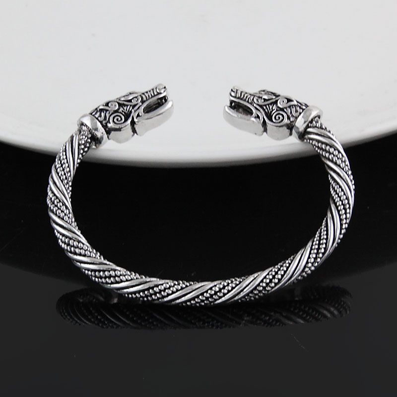 LAKONE Teen Wolf Head Bracelet Indian Jewelry Fashion Accessories Viking Bracelet Men Wristband Cuff Bracelets For Women Bangles 3