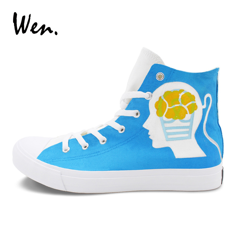 Practical The Nightmare Before Christmas Styles Canvas Shoes Special Luminous Skull Jack Hand Painted Shoes Black High Top Men Sneakers Without Return Men's Vulcanize Shoes Men's Shoes
