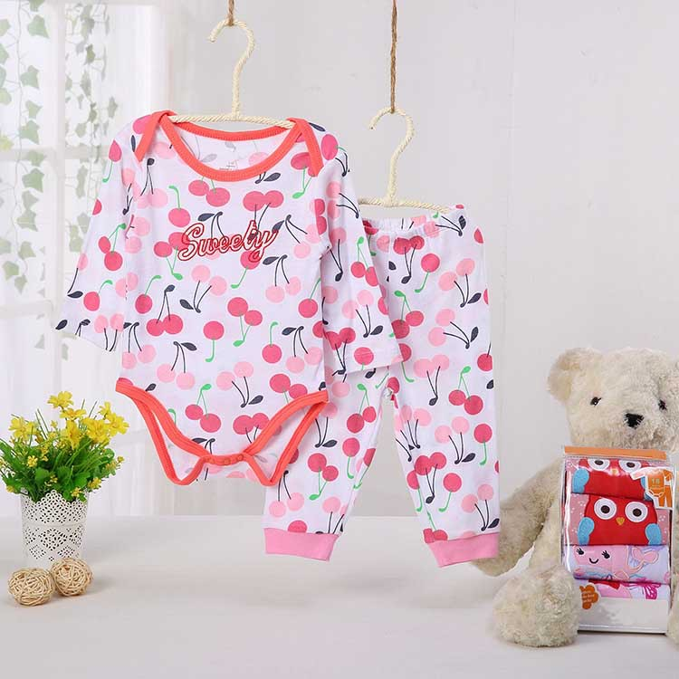 The New Pure Cotton Cartoon Comfortable Long Sleeved And Long Pants Suit Baby Boys And Baby Girls Clothing Wholesale 2suit