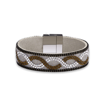 Crystal Wrap Bracelets For Women Multilayer Rhinestone pulseira masculina Leather Bracelet Crystal Braclet 2017 Fashion Jewelry