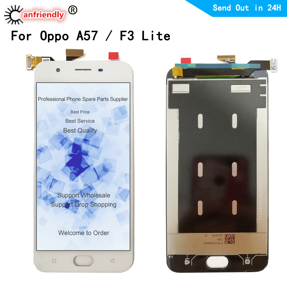 5.2 inch LCD for <font><b>OPPO</b></font> <font><b>A57</b></font> / F3lite LCD <font><b>display</b></font> touch panel screen digiziter sensor assembly for <font><b>OPPO</b></font> F3 lite CPH1701 image