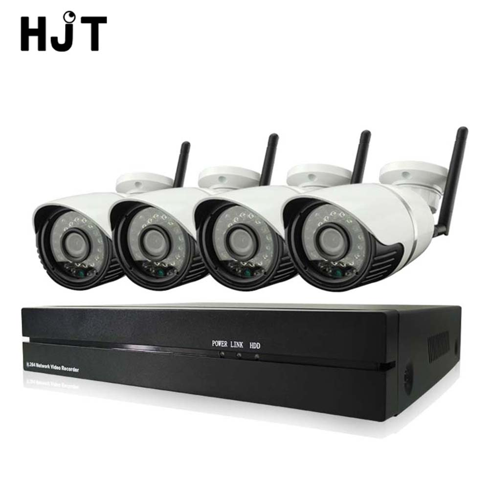 HJT 4CH Wireless 720P Wifi IP Camera System IR Night 8CH NVR Record Video CCTV Surveillance