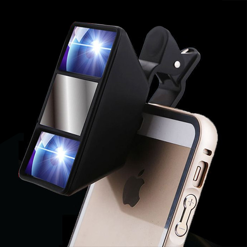 SIANCS Mini 3D Effect Mobile Phone Lens self-timer vr and video Camera Stereo Photos Lens With Clip for iPhone tablet 3D Lens
