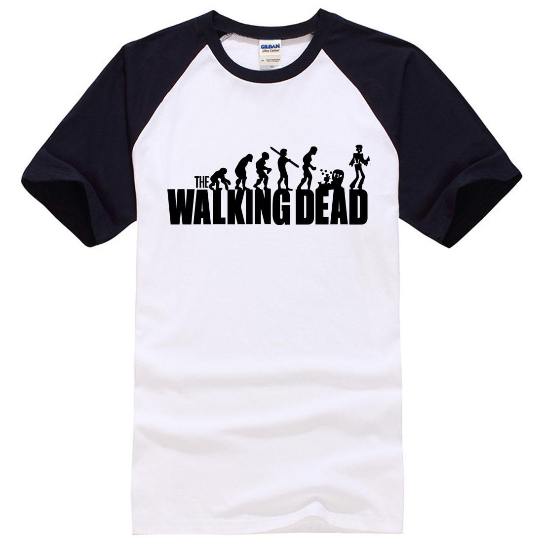 7a084d973 2019 nowość the walking dead koszulka z nadrukiem 100% bawełna mężczyźni t  shirt na co dzień Fitness odzież marki topy koszulki męskie mężczyzna nowy  lato w ...