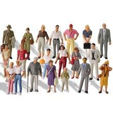 20 sztuk wszystkie stojące 1:43 skala malowane figurki O skali ludzie kolejowe figurki sceneria Model kolejowy