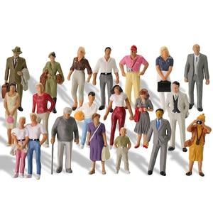 Image 1 - 20pcs All Standing 1:43 Scale Painted Figures O scale People Railway Figures Scenery Model Railway