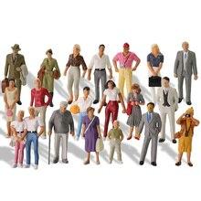 Chiffres peints O échelle 1:43 tous debout, 20 pièces, figurines ferroviaires avec paysage, modèle ferroviaire
