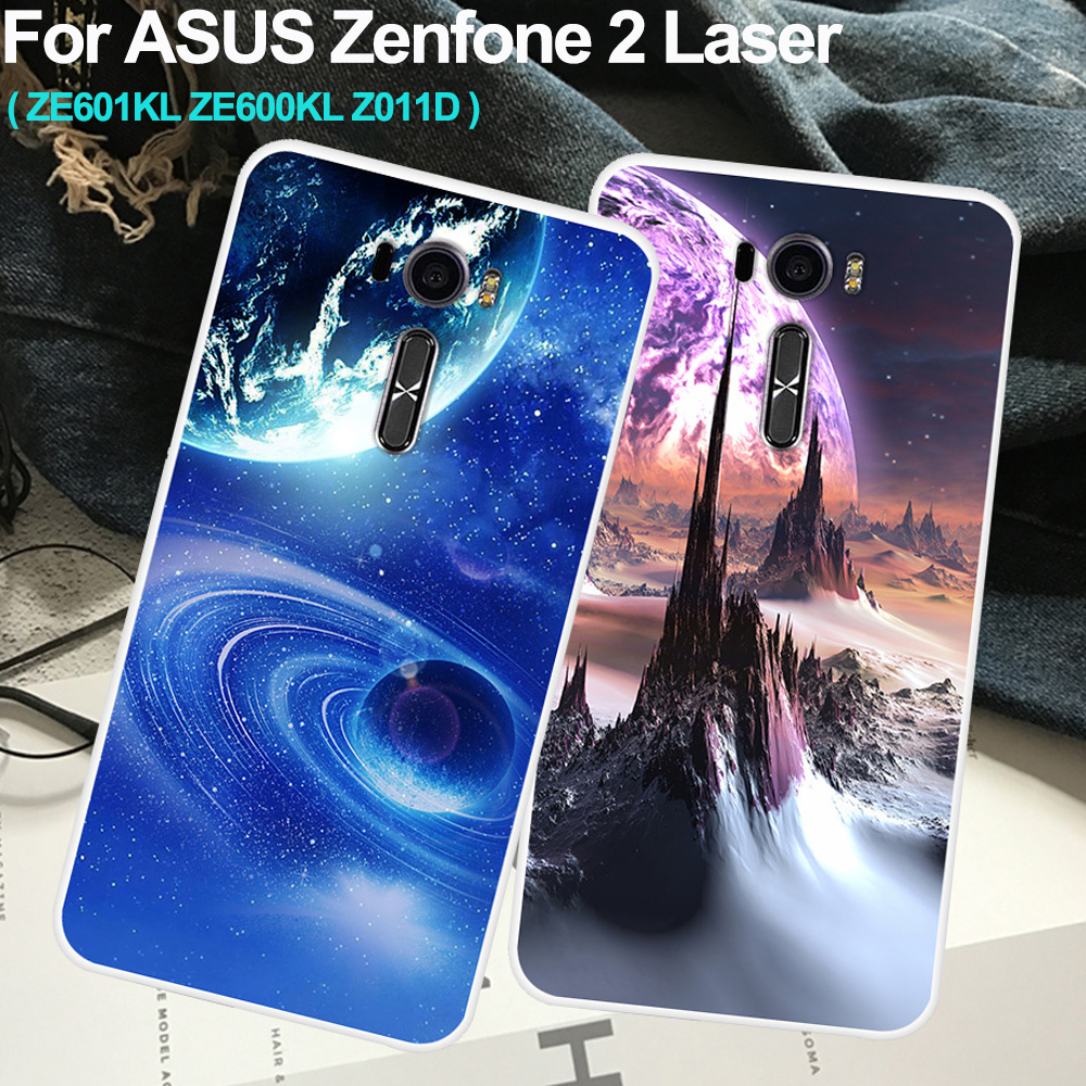 "6.0"" For Asus Zenfone 2 Laser Ze601kl Ze600kl Z011d Case Cover Cosmic Star Back Protective Phone Case Zenfone2 Laser Shell Coque"