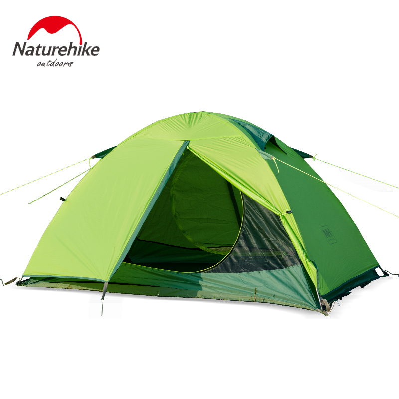 NH high quality double person aluminum alloy 20D silicone fabric anti heavy rain camping tent nh cloud outdoor single person camping tent anti rain 4seasons ultraportability 20d nylon silicone cated waterproof 8000mm