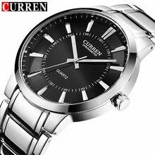 relogio masculino 2017 CURREN Luxury Brand Full Steel Clock Male Simple Quartz Watch Men Fashion Casual Waterproof Wristwatch цена