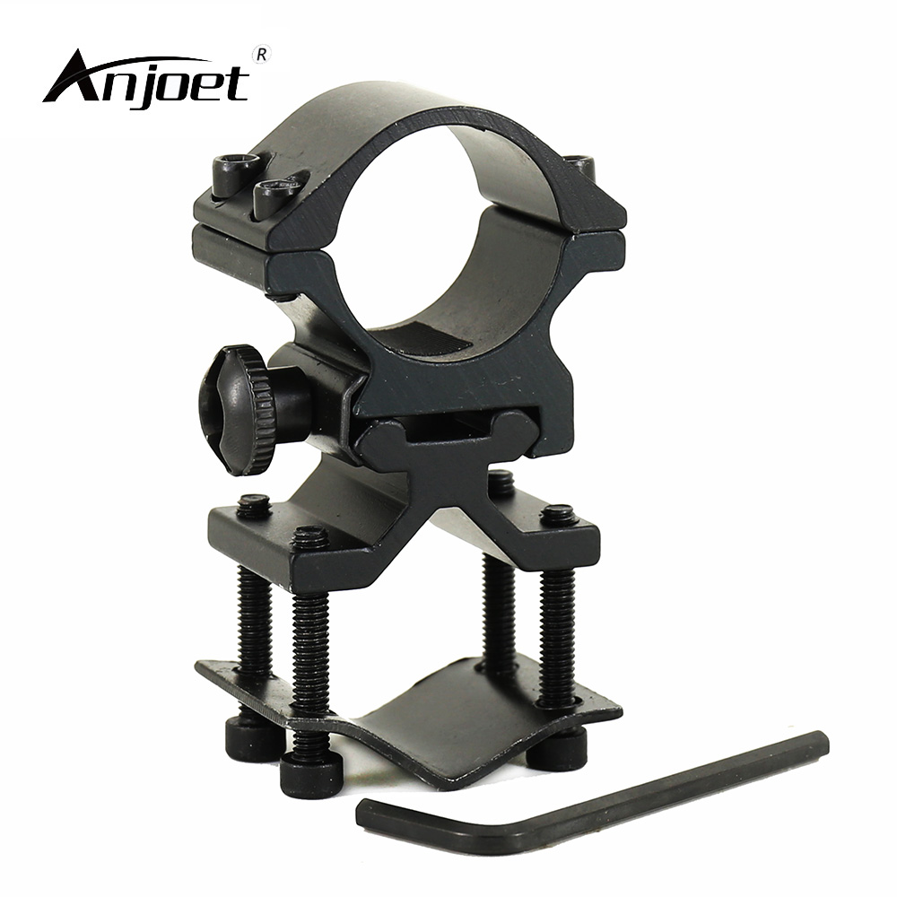 ANJOET Tactical Gun Mount 25mm Ring 20mm Weaver Rail Pistol Airsoft Adapter Flashlight Torch Bracket For 501B C8 Mount Holder