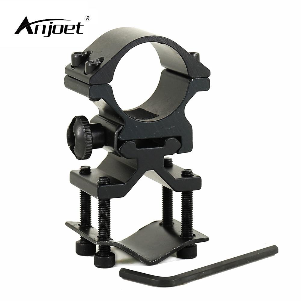ANJOET Tactical Gun Mount 25mm Ring 20mm Weaver Rail Pistol Airsoft Adapter Flashlight Torch Bracket For 501B C8 Mount Holder