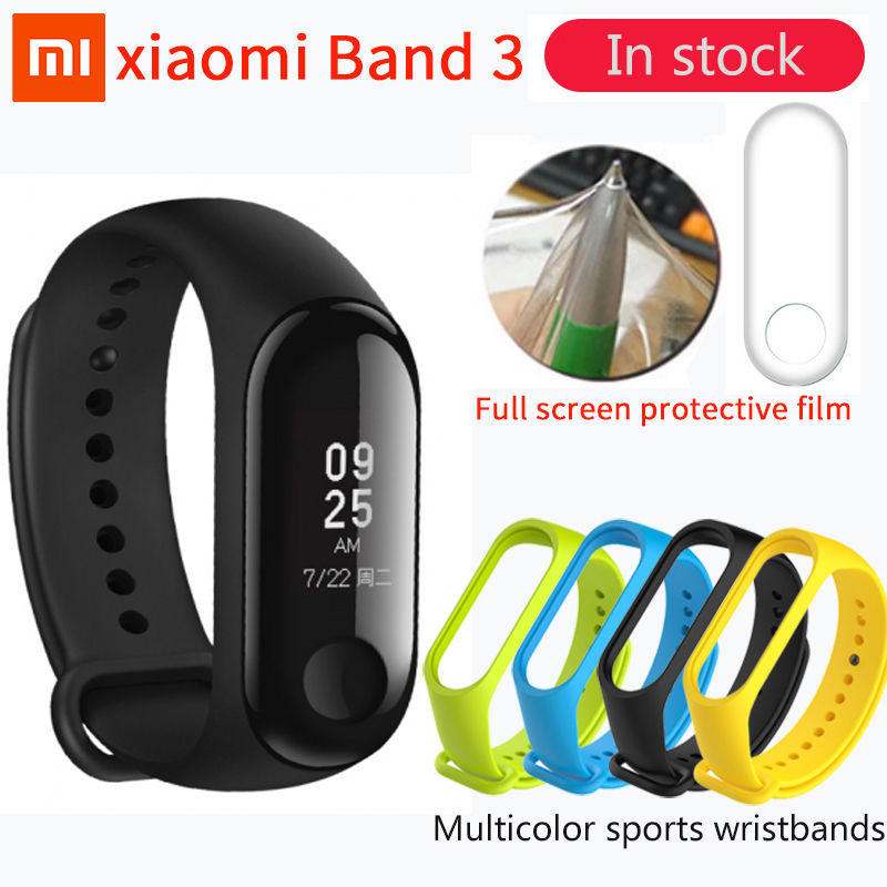 In Lager Xiao mi mi Band 3 mi band 3 Fitness Tracker Heart Rate Monitor 0,78 ''OLED Display Touchpad bluetooth 4,2 Für Android IOS