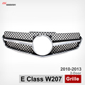Mercedes W207 ABS Black Mesh Grille for Benz E Class 2 Door Coupe C207 Convertible 2010-2013 E200 E350 E550 1 Fin SLS Style