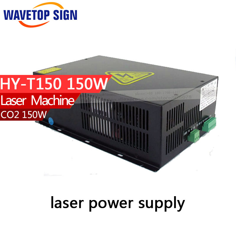 150W CO2 Laser Power Supply  for CO2 Laser Engraving Cutting Machine HY-T150 use for co2 laser tube 130w 150w high voltage flyback transformer hy a 2 use for co2 laser power supply