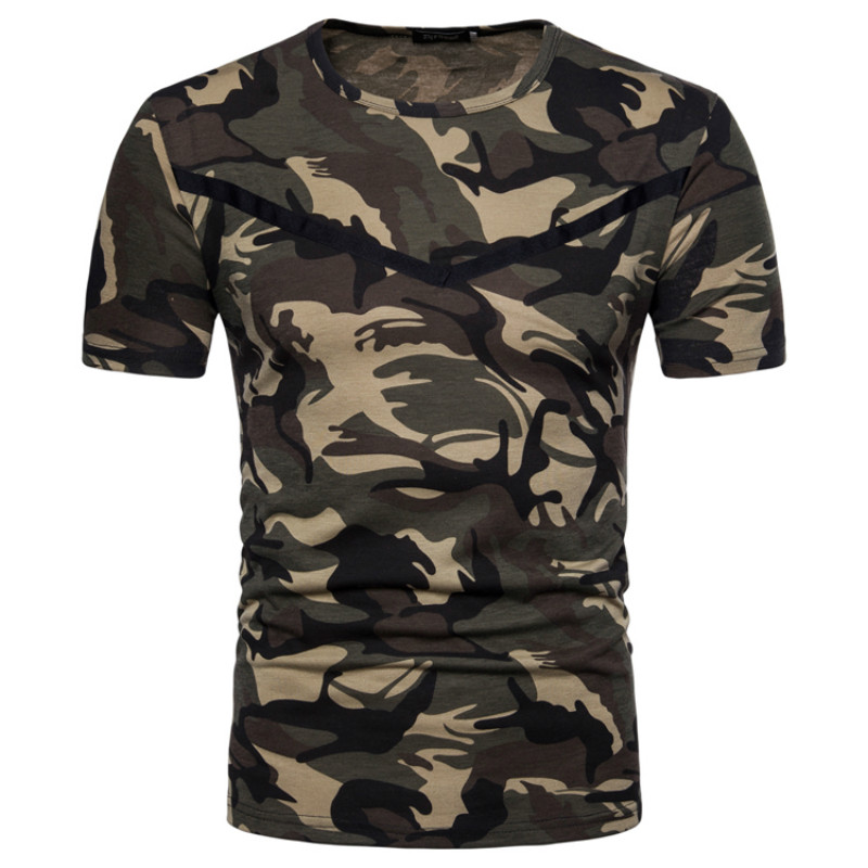 Camouflage Tee Shirt Men 2018 Summer Man Cool Design Fitness Hip Hop Tops TeesCasual Slim Camo Army tShirt Outwear T Shirt male