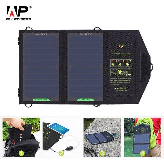 ALLPOWERS 10 Вт Солнечных Батарей Зарядное Устройство Панели Солнечной Батареи для мобильного телефона, iPhone 6 s 6 Plus, iPad mini, Galaxy S6 и Многое Другое