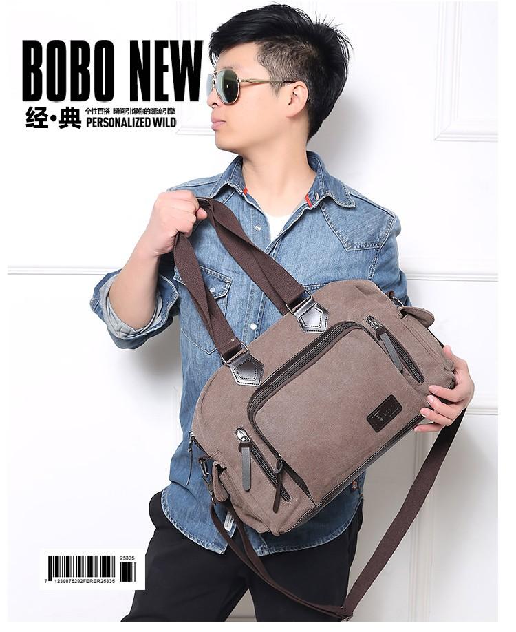 2016 men\'s travel bag canvas men messenger bag brand men\'s bag vintage style briefcase,Travel Shoulder bag (12)