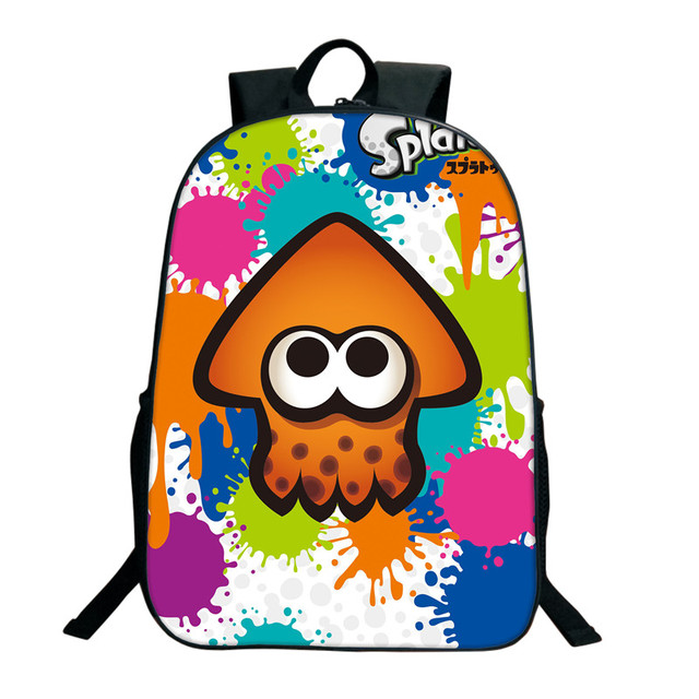 16 Inch Splatoon 2 Backpacks For Teenagers Casual Men Women's Travel Shoulder Bags Splatoon Bags For Children Kids Birthday Gift 4