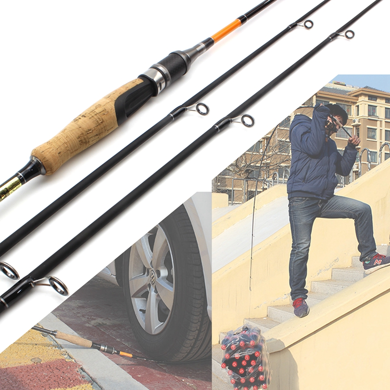 Lowest profit Fishing Rod 1.8M Carbon Rod ML/M 2 Tips 10 28g Spinning Rod Casting Light Jigging Rod 2 Sections fishing pole -in Fishing Rods from Sports & Entertainment