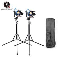 ALUMOTECH 150WX2 Tungstênio Como Arri Fresnel Spot de Iluminação + StandX2 + Bolsa Para Estúdio de Fotografia