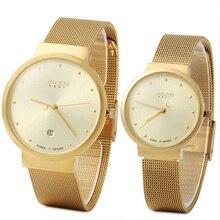 Julius ja-426 amante pareja de oro de plata negro de malla de acero inoxidable análogo de cuarzo ocasional impermeable reloj de moda reloj de pulsera de regalo