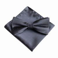 7 Color Men's Fashion Bowtie Hanky Set Groom Gentleman Dots Cravat Pocket Towel Handkerchief Wedding Party 1