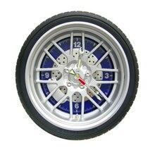 Creative car Tires  wall clock living room bedroom wall clock auto Quartz watches Office wall clock
