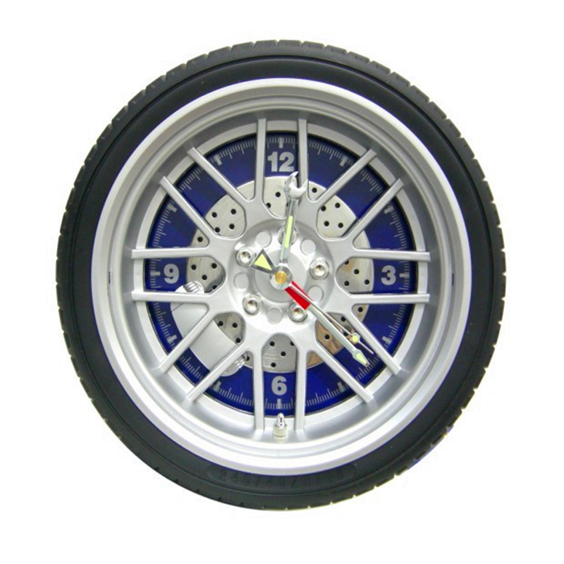 Creative car tires wall clock living room bedroom wall clock auto quartz watches office wall - Mondaine wall clock cm ...