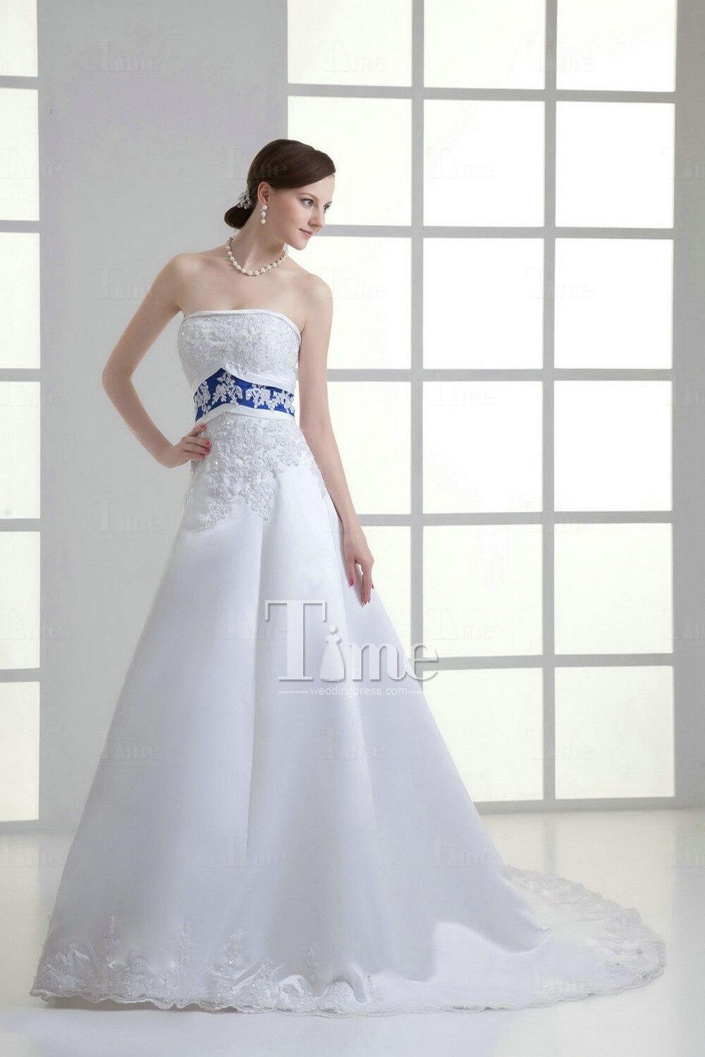Vestidos de novia color azul marino