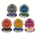 25 Pçs/lote Trigo Dólar Moedas Casino Texas Hold'em Coroa Cor de Argila Fichas de Poker Baccarat Upscale Definir Pokerstars14g K8356