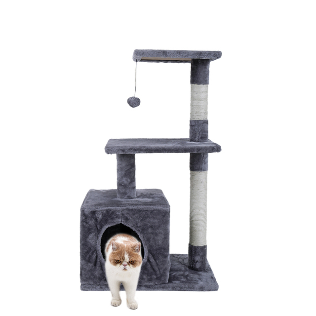 New Brand Domestic Delivery Cat Toys Swinging The Ball Furniturescratchers Cat Tree House Scratch Toy For