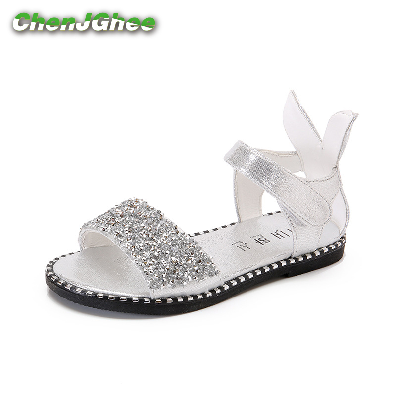 Mumoresip New Baby Girl Sandals Fashion Bling Shiny Rhinestone Toddler Girls Shoes With Rabbit Ear Kids Flat Sandals 13-22CMMumoresip New Baby Girl Sandals Fashion Bling Shiny Rhinestone Toddler Girls Shoes With Rabbit Ear Kids Flat Sandals 13-22CM
