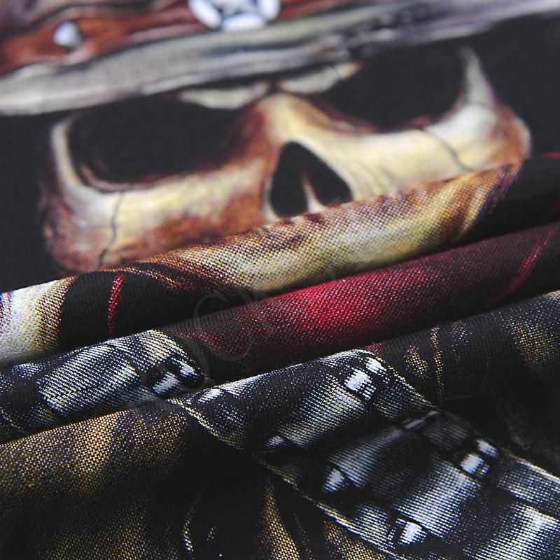 [Mannen bone] Hot 100% Katoenen T-shirt Mannelijke Modemerk rock - Herenkleding - Foto 3