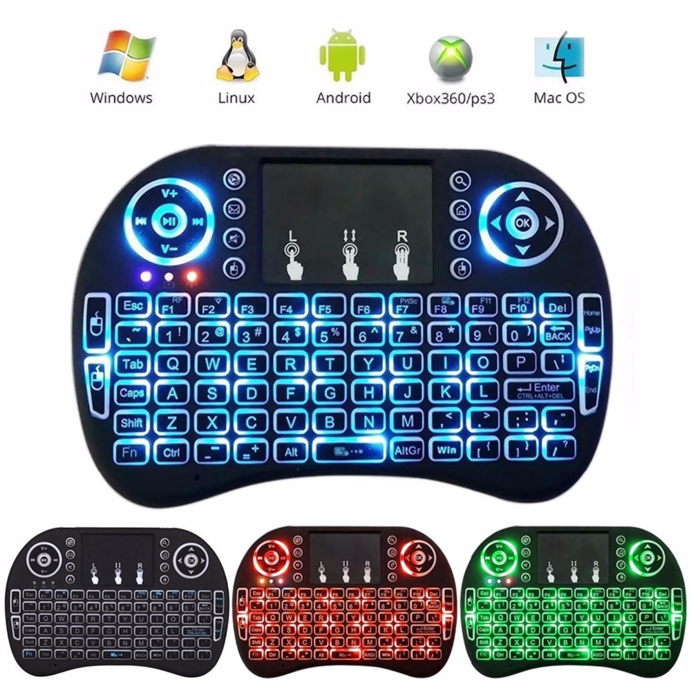цена на i8 backlight 10pcs i8 keyboard 5pcs i8 Backlit air Mouse 20pcs for Android TV Box PC mini android i8 keyboard 10pcs h9 mini