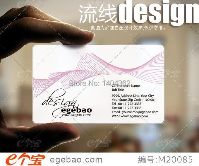 Une Impression Recto Verso Round Coin Cartes De Visite Carte PVC Transparent 855 Mm 54 N 2133