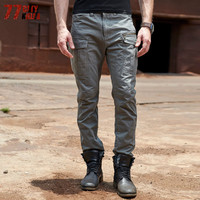 77City Killer Multi Pocket Men's Trousers Loose Full Length Plus Size Military Pleated Pants Solid Cargo Pants for Men P686
