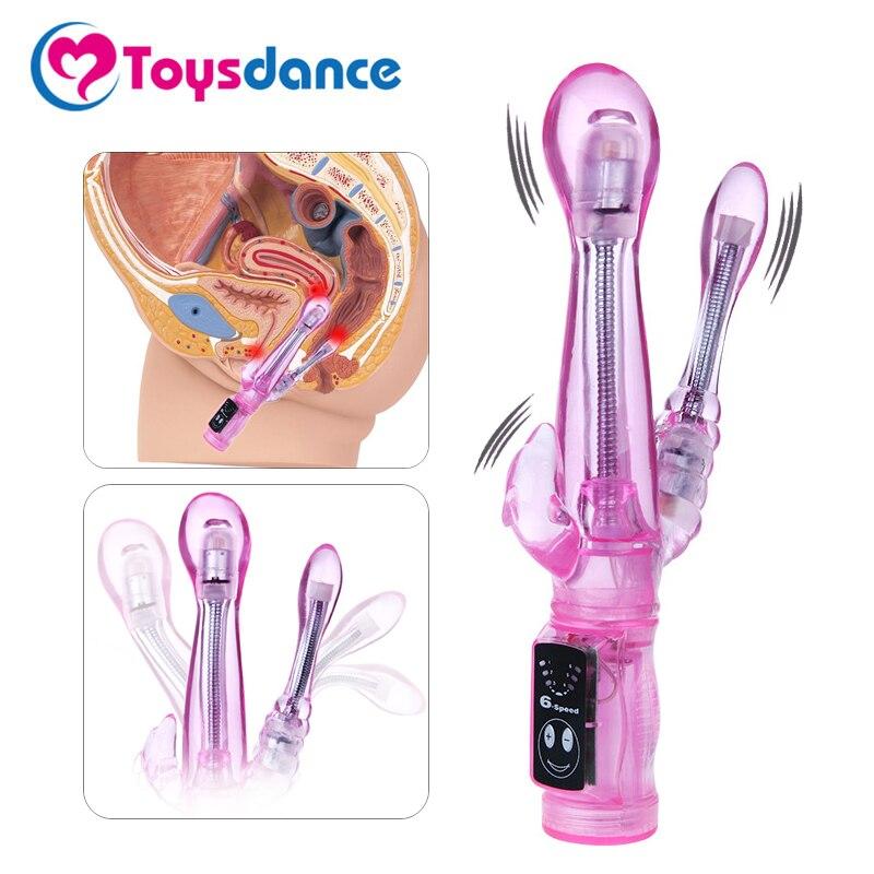 Toysdance 6 Geschwindigkeit Kaninchen Vibrator Für Frauen G-spot/Klitoris/Anal Stimulation Biegsamen Dildo Vibrierende Penis Erwachsene sex Spielzeug