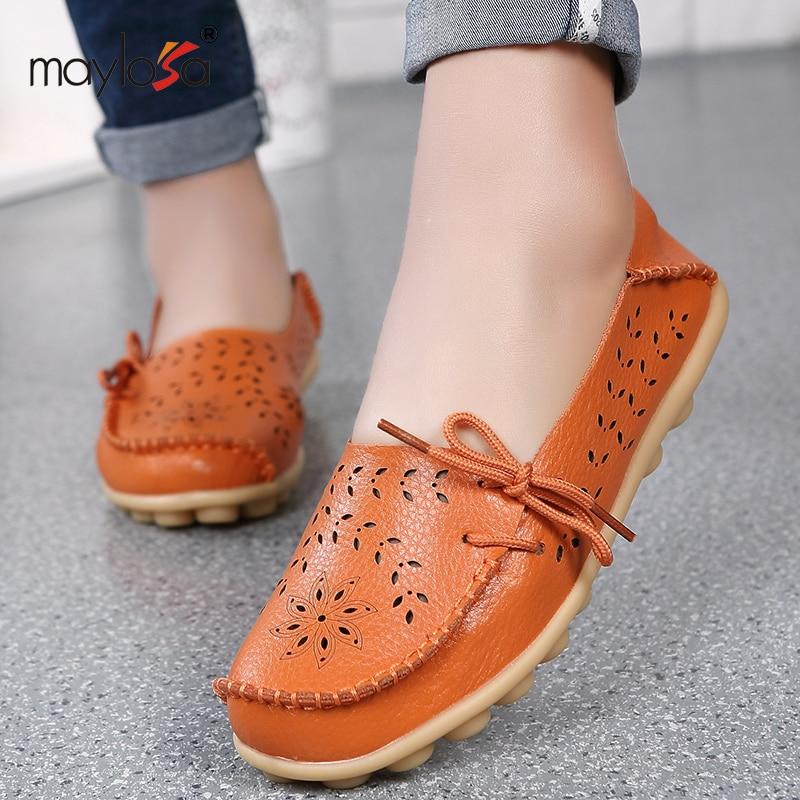 Mujeres Pisos Sólidos recortes Mujeres Cómodas Ocasionales Zapatos Mocasines de