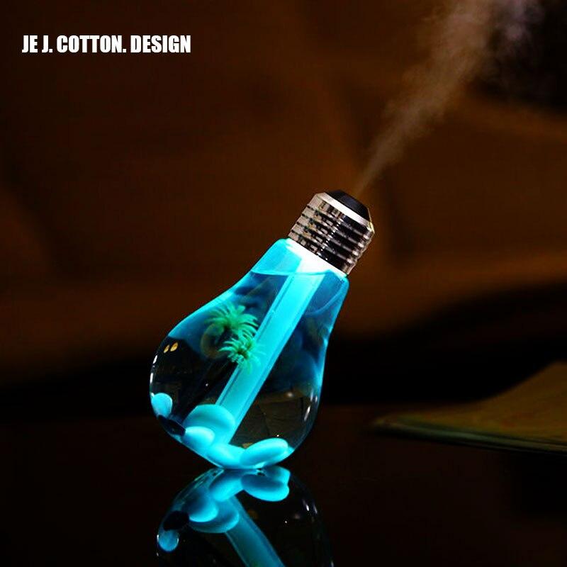 400 ml Led-lampe Air Ultraschall-luftbefeuchter für Zuhause Ätherisches Öl Diffusor Zerstäuber Lufterfrischer Nebelhersteller mit LED Nacht licht