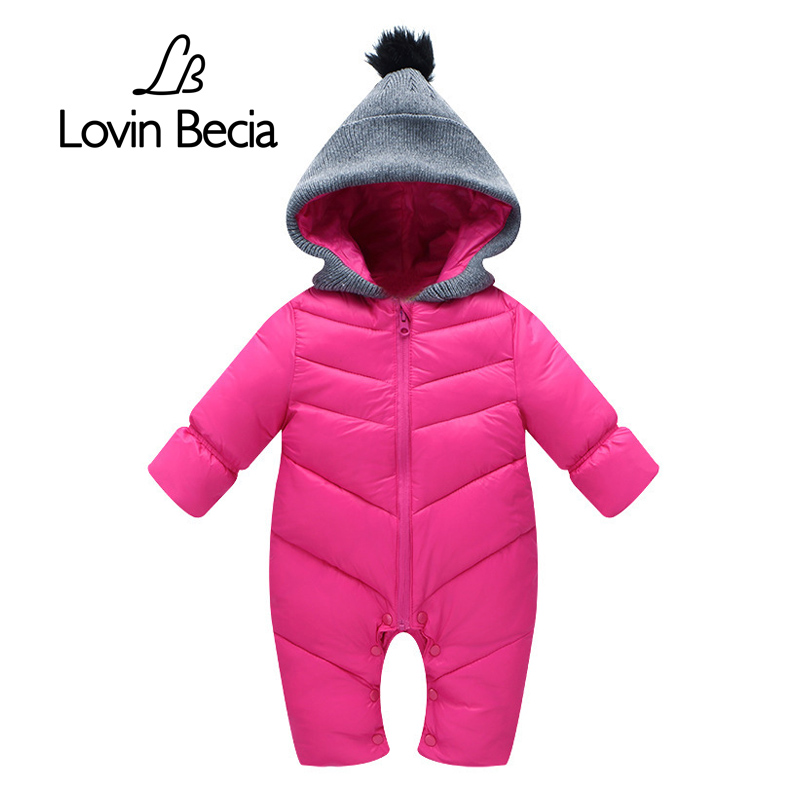 LovinBecia Autumn Winter Cotton   Romper   Baby Boy Girls New Fashion Solid Color Jumpsuit Thick Warm long-sleeve Onesies clothes
