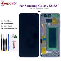 100% Tested For Samsung S8 Lcd Display Touch Screen Digitizer With Frame G950F G950U G950Fd OEM For Samsung Galaxy S8 Lcd Screen