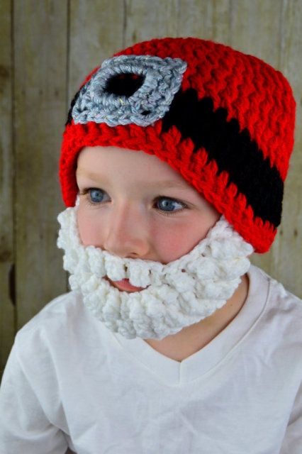 84d26b897f4 Crochet Santa Hat with Beard