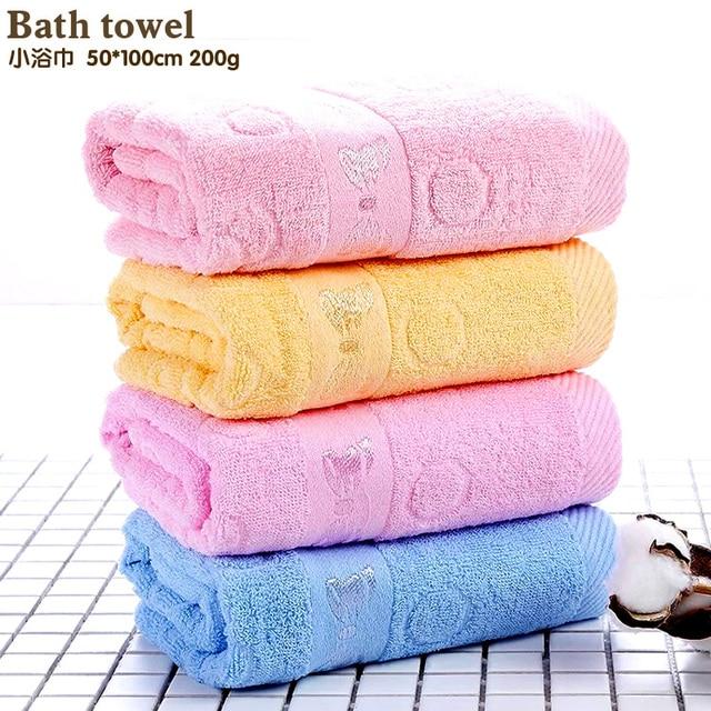 4pcs Lot Free Shipping 100 Cotton Towel Solid Blue Color Plain Dyed Quick Dry Bath Towels 50 Cm Set Whole Retail