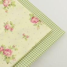 2 個チェックローズ 40 センチメートル x 50 センチメートル綿生地縫製材料 tecido 組織ティーダパッチワークキルティング寝具ホームテキスタイル
