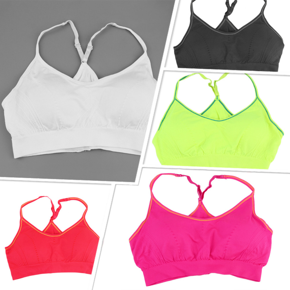Professional Sexy Double Layers Women Fitness Yoga Sports Wire Free Bra Seamless Underwear Top Bra For Running Gym In Stock