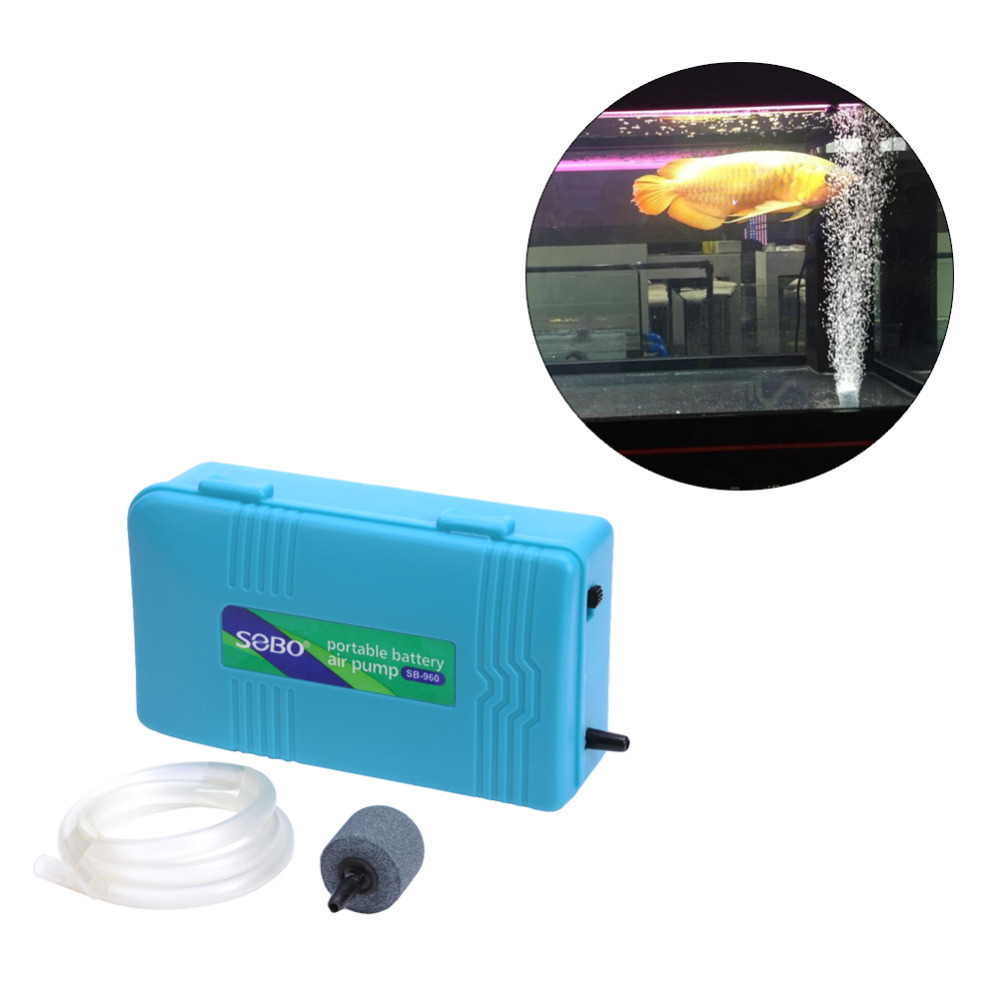Portable aquarium battery backup operated fish tank air for Air pump for fish tank