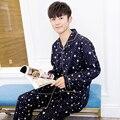 2016 зима высокое качество twinset 100% хлопок pajama наборы плед pijama мужчины тканые район пижамы мужские пижамы мужчин пижамы