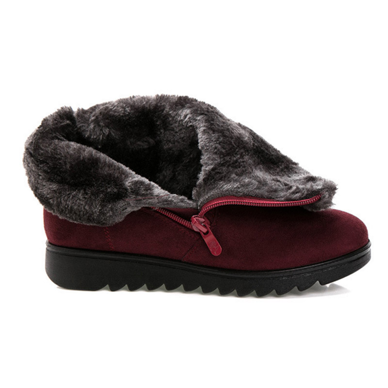 VTOTA Classic Boots Women winter Warm Women Winter Boots Snow Boots Fur Comfortable Platform Shoes for Women Flat Botas OHXY in Ankle Boots from Shoes